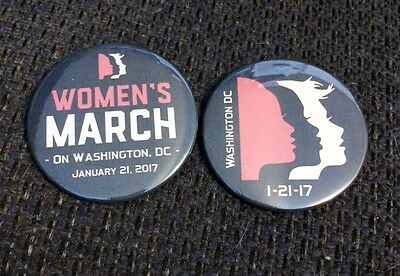 Women's March - January 21, 2017 - Washington, DC - Set of 2 Buttons / Pins