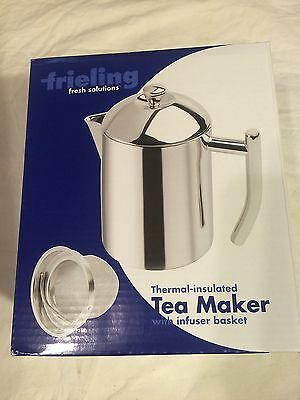 FRIELING Thermal Insulated TEA MAKER with infuser basket NEW 18/10 stainless NIB