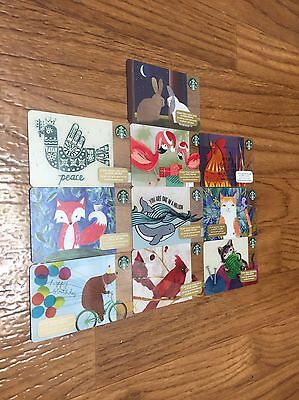 Lot of 10 Starbucks card Collectible New! Never used (Zero balance)