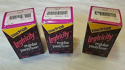 Legtricity Pantyhose Sears Nude Size B 3 packs Vintage Nylons