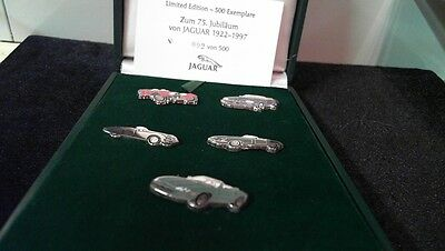 Jaguar 75 Years Jahre Pin Badge Collection 1922-1997 limited Edition No. 30/500