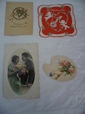 Antique Vintage Old Valentines Valentine Day Cards To Use Re Craft Or Scrap Book
