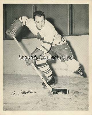 Gus Mortson Photo  Quaker Oats Series 1945-54 Mail-In Promo  Toronto Maple Leafs