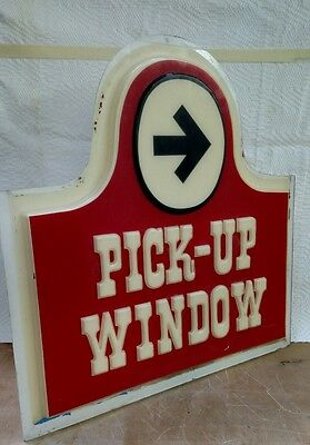Wendy's Drive through sign