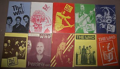 The Who Newsletter 10 Fanzine Magazines Pete Townshend Rodger Daltery Keith Moon