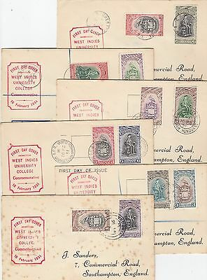 Stamps University of West Indies omnibus issues group 15 FDC's couple registered