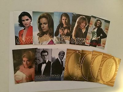 James Bond women and more 12 insert cards lot deal