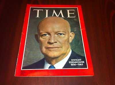 Time Canada.April 4,1969.Dwight Eisenhower.In excellent condition. no label