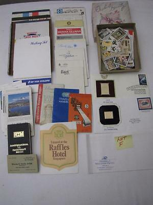 Vintage Paper Lot Hotel Writing Paper & Stamps (Lot F)