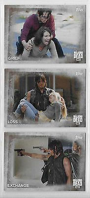 3 2016 Topps AMC Walking Dead Collector Cards #46,47,48