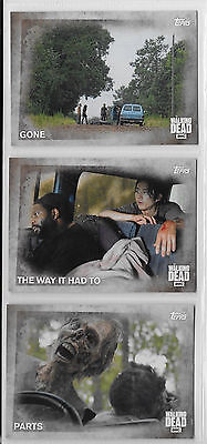 3 2016 Topps AMC Walking Dead Collector Cards #52,53,54