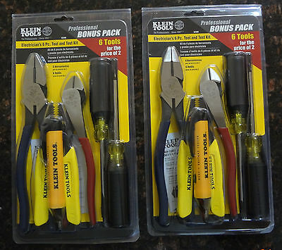 Klein Tools 6-Piece Electrician Tool and Test Kit ( 2 Sets )