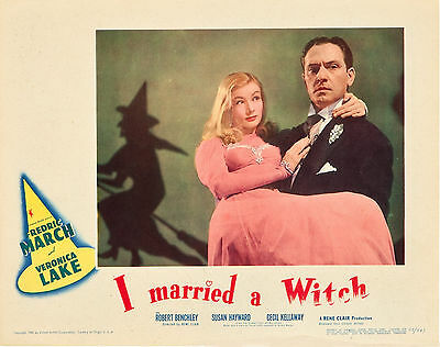 I Married a Witch 11 X 14 Lobby Card LC Veronica Lake Fredric March