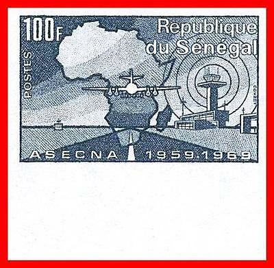 SENEGAL 1969 AVIATION SAFETY imperforated  LARGE MARGIN SC#321 MNH JOINT ISSUE