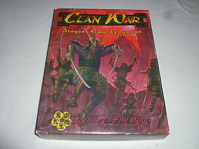 Boxed Clan War Dragon Army Expansion Legend Of Five Rings Aeg 1999 Books