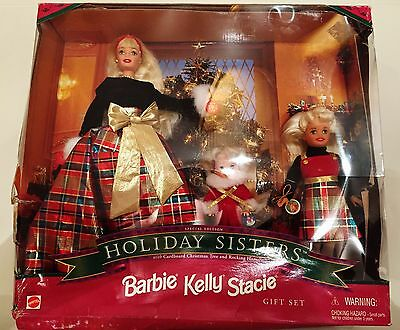 Mattel Holiday Sisters Special Edition Barbie Kelly Stacie Gift Set ~ 1998 ~ Nib