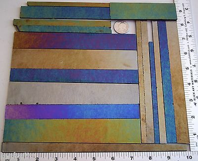 1 Pound Of Mixed Dark Color Sheet Strips Bullseye Kiln Forming Glass 90 Coe
