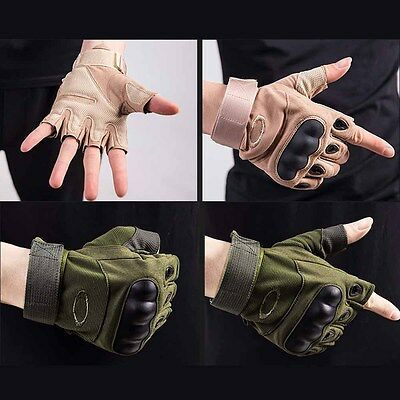Army Tactical Gloves Army Bicycle Outdoor Cycling Motorcycle Half Finger Gloves