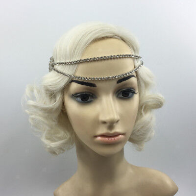 1920s Headpiece Flapper Crystal Chain Hairband Great Gatsby Headband Decor