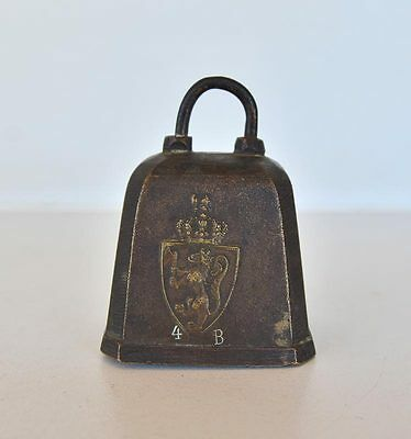 Antique / Vintage European Brass Cow Goat Sheep Bell
