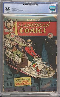 All-American Comics # 66  Green Lantern !  CBCS 2.0 scarce book !