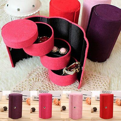 Ring Earring Necklace Jewelry Organizer Display Showcase Box Storage Tray Holder