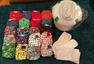 Tots Bots Easy Fit V3 20 Cloth Reusable Nappies Plus Extras Please Read Info!