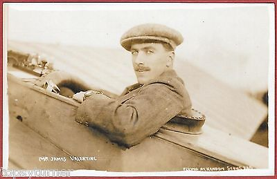 Lt Col. James Valentine, Early Aviator. Died 1917 During WW1 Royal Flying Corps.