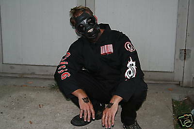 Slipknot 1st Tour (Black) Jumpsuit  Red & White Barcode NEW! *You Pick The Size*