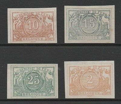 Belgium 1882 *fine High Value Group Of 4 Railway Parcel Stamps* Mint