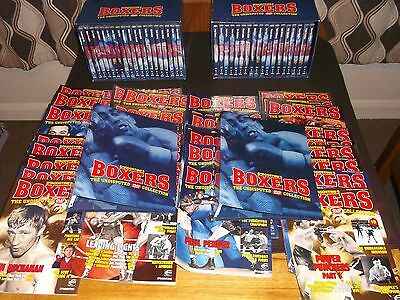 Boxing -  Large collection of boxing dvd's,magazines & including storage boxes