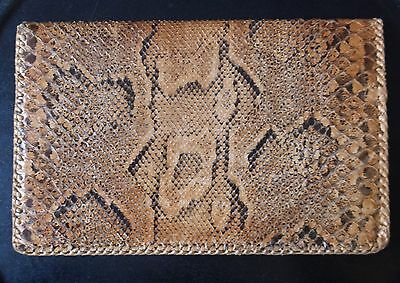 Rare Genuine Vintage Boa Snake Skin Mans Wallet, Leather Interior, 50S/70S.