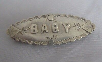 Antique Sterling Silver  Baby Brooch Ward Brothers 1892
