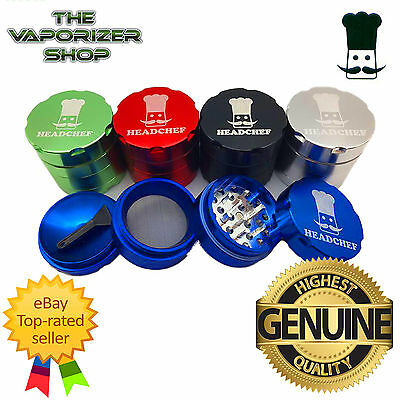 Head Chef Top Quality Alluminium Magnetic Herbal Grinder 40mm 4 Pcs All Colours
