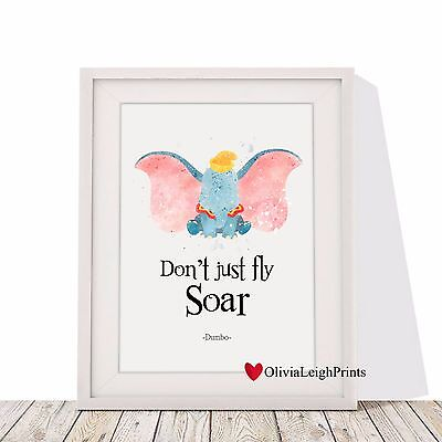 Disney Dumbo Word Art Quote Watercolour-Wall Art-Print-Gift-Nursery