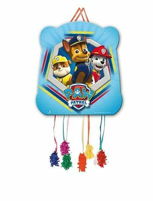 Paw Patrol Childrens Boys Birthday Party Pull String Pinata & Blindfold 395-870