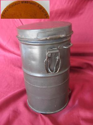 WWI ORIGINAL GERMAN GAS MASK CANISTER w/SPARE FILTERS RARE