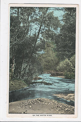 """Postcard: """"On the Watts River"""" (Yarra Ranges, Victoria) Early Postcard"""