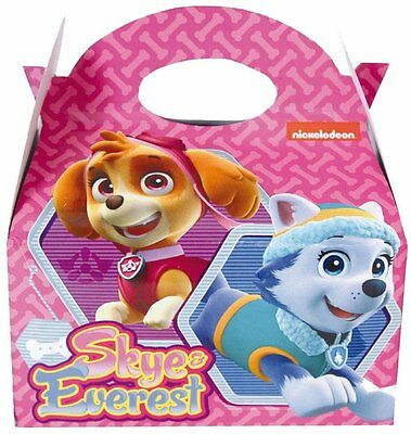 6,12,24 Paw Patrol Pink Skye Everest Kids Birthday Party Bag Food Gift  Cake Box