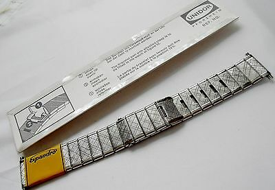 Vintage High Quality Boxed Stainless Steel Gents Watch Bracelet. New Old Stock .