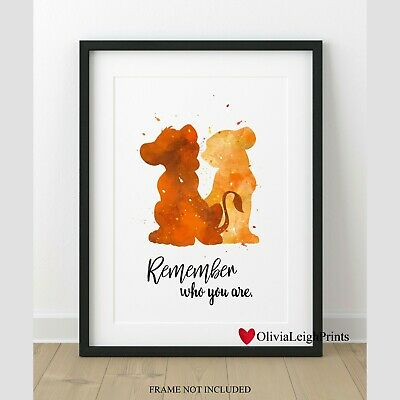 Disney The Lion King Cubs Word Quote Watercolour Art Print-Wall Art-Gift-Nursery