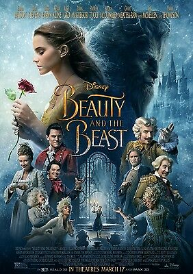 Beauty And The Beast Movie Poster A6+A4+A3+Framed+Super A3 Print Emma Watson