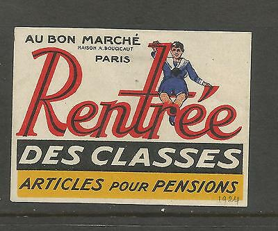 France Back To School advertising label/stamp
