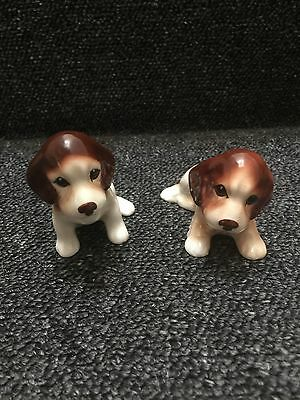 Vintage Sylvac Spaniel Puppy Dogs Model No 115 And No 116