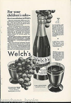 1932 WELCH'S GRAPE JUICE advertisement, 25c a pint