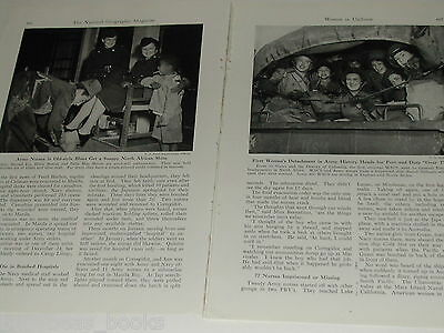 1943 magazine article, WWII Women in Uniform, WAVES, WACS, SPARS etc