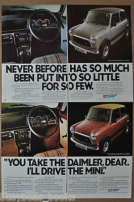 1979 AUSTIN MINI 2-page advertisements x2, MINI 1100 Special, UK adverts, Austin
