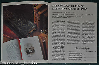 1981 Franklin Library 4-page advertisement, Heirloom Library by Franklin Mint