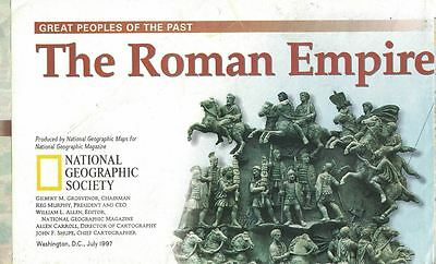 National Geographic Great Peoples of the Past THE ROMAN EMPIRE Map July 1997