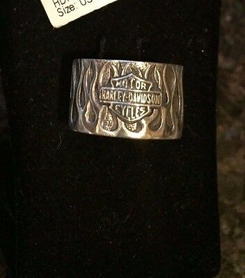 NWT Harley Davidson Sterling Silver Mod Flame Ring SIZE 6 or 7
